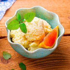 Cremiges Low Carb Orangen-Sahne-Eis