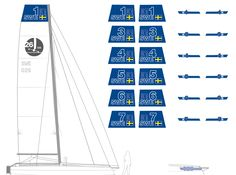 Mainsail and mainhull bow sticker design for the Multi Cup SeaCart 26 trimarans. √ Check! www.seacart26.com