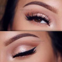 39 Top Rose Gold Makeup Ideas To Look Like A Goddess Gold makeup as well as pink makeup is really jazzy right now. Have you already tried this charming and trendy makeup look? Eye Makeup Glitter, Pink Makeup, Makeup With Pink Dress, Beauty Makeup, Makeup Style, Wedding Makeup Tips, Bridal Makeup, Makeup Inspo, Makeup Inspiration