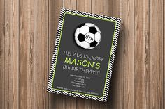 Soccer Birthday Party  DIY Personalized by PaperPapelShop on Etsy