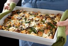 Delicious suggestion from our friends at Whole Foods!    Portobello and Asparagus Egg Strata | Whole Foods Market    Recipe at: http://wholefoodsmarket.com/recipes/1862