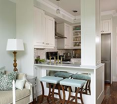 espacios pequeños. Cocina integrada.