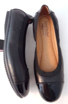 34a23d10bff7  115 JOSEF SEIBEL Pippa 07 Black Cap-Toe Leather Flat Ballet Shoe 38   fashion  clothing  shoes  accessories  womensshoes  flats (ebay link)