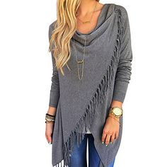 Image viaImage Cute Autumn Fashion Outfits For viaStunning Paige Fringe Shawl Look Fall 2015 Trends - Latest Women's Fashion Trends and Outfits - Urefy - Latest F Look Fashion, Fashion Outfits, Street Fashion, Fashion Trends, Fashion Fall, Feminine Fashion, Fashion Ideas, Cheap Fashion, Fashion 2017
