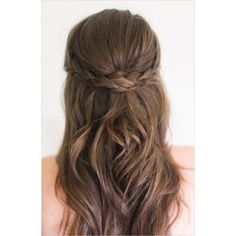 The 10 Best Half-Up, Half-Down Wedding Hairstyles | Daily Makeover ❤ liked on Polyvore featuring hair and hairstyles
