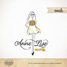 OOAK Logo Fashion Watercolor Woman/Girl with by Demoisellepixel, $149.00