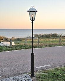 Benu Black Lantern with Taurus Pole Luminaire Led, Black Lantern, Facade House, Lighting Solutions, Outdoor Areas, Energy Efficiency, Trees To Plant, Timeless Design, Outdoor Lighting