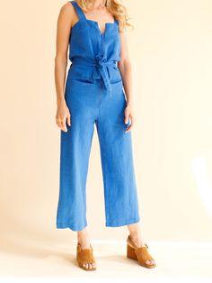 Rachel Comey Bend Jumpsuit - Blue Linen