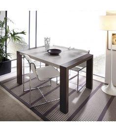 Mesa de comedor extensible con pata deslizante. Estilo moderno. Gran variedad de acabados. Entrega y montaje GRATIS en Península