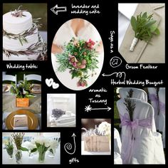 wedding decorations with herbs