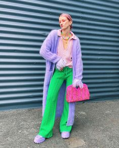 """MARIANNE THEODORSEN's Instagram post: """"[ad]A knitted chef's kiss💕 I mean…the quality and colors of these @eleonoragottardi_official pieces are just subliiime! 🥳🔥LOVE!…"""" High Fashion, Womens Fashion, Green Pants, Colorful Fashion, Sweater Weather, Color Pop, Kiss Me, Women Wear, Instagram Posts"""