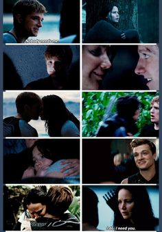 """I need you."" - Katniss (Catching Fire BAWLED MY EYES OUT AT THIS PART OF THE MOVIE"