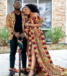 Pin by ann la on couples african fashion in 2019 одежда, жен African Wedding Attire, African Attire, African Wear, African Dress, Ghana Wedding Dress, African Wedding Theme, African Print Wedding Dress, African Women, Couples African Outfits