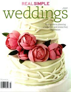 Real Simple Weddings MagazineGumpaste Rununculus   Deep purple Ranunculus    cakes  . Real Simple Wedding Cakes. Home Design Ideas