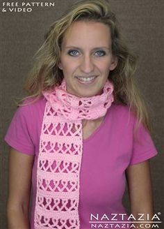 Crochet Awareness Ribbon Scarf - Media - Crochet Me
