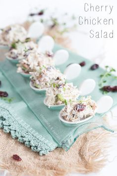 Cherry Chicken Salad, tips for running and recovery benefits of @choosecherries #sponsored | chocolateandcarrots.com