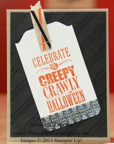 Halloween Bash Tag Card and a free tutorial on making the tag!