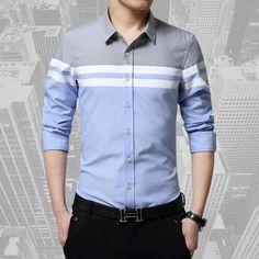 2017 spring new brand casual men shirt long sleeve slim Fit shirts Men's dress Shirt vetement chemise homme