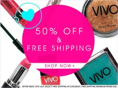 [News] VIVO Cosmetics - Sconto su tutto e spedizione gratis 50th, Cosmetics, News, Makeup, Make Up, Beauty Products, Bronzer Makeup, Drugstore Makeup