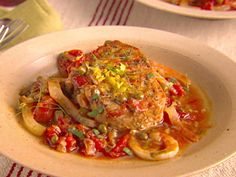 Pork Chops with Fennel and Caper Sauce Recipe : Giada De Laurentiis : Food Network - FoodNetwork.com