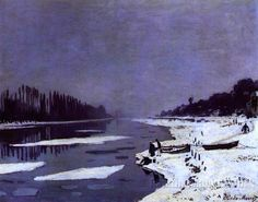 Ice on the Seine near Bougival by Claude Monet