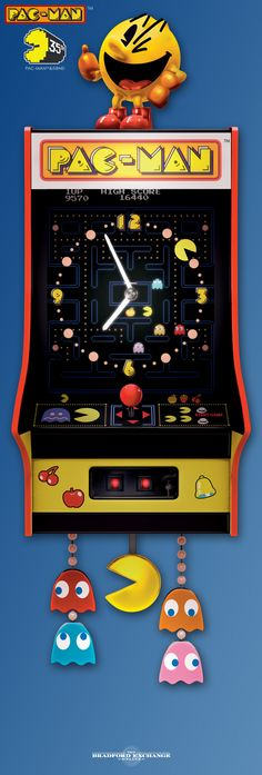Honor the legendary arcade sensation with this collectible PAC-MAN cuckoo clock! It even plays music and sound effects from the original game.