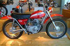 Just like my 1970 Honda SL175 (mine was Candy Topaz Orange)