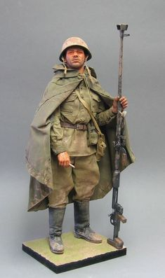 Military miniature, toy soldier.: