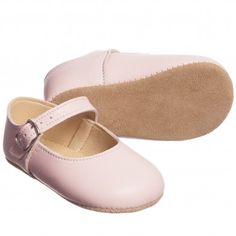 Early Days Pink Leather Mary Jane Shoes at Childrensalon.com