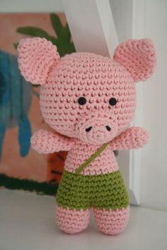 Mesmerizing Crochet an Amigurumi Rabbit Ideas. Lovely Crochet an Amigurumi Rabbit Ideas. Crochet Pig, Crochet Amigurumi Free Patterns, Cute Crochet, Crochet Crafts, Crochet Dolls, Crochet Projects, Little Pigs, Stuffed Toys Patterns, Creations