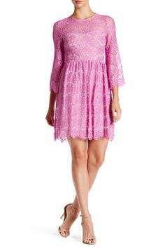 Image of Betsey Johnson Lace Fit & Flare Dress
