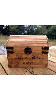 Large Rustic Wooden Card Box - Rustic Wedding Card Box - Shabby Chic Wedding…