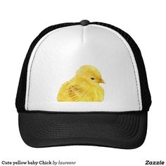 b3c9dceedebc4 Cute yellow baby animal chick trucker hat