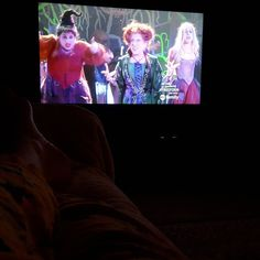 #fridaymovienight at the Watson house. To get into the #Halloween mood #HocusPocus.