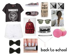 """""""Back To School"""" by fabiola-maria on Polyvore featuring moda, Topshop, Vans, Forever 21, Casetify, Ray-Ban, GUESS, Waterford, Eos y Wet Seal"""