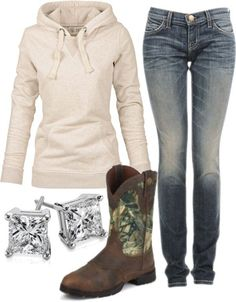 """""""Country Fun :)"""" by small-town-country-gurl on Polyvore  Cute outfit thIs is my typical outfit lol"""