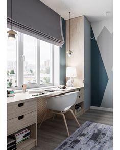 78 Inspiration Home Office Comfortable Work Desk < Home Design Ideas Boy Bedroom Design, Home Room Design, Room Design, Home, Kids Room Design, Bedroom Design, House Interior, Home Office Design, Home Interior Design