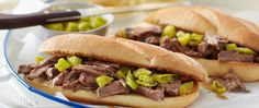 Just a few flavorful ingredients turn this simple slow-cooker pot roast into a memorable sandwich filling.