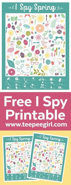 Free I Spy Spring Printable Game | Get this free game (plus the answer key!) at www.TeepeeGirl.com.