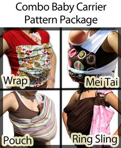 EASY Baby Wrap Sewing Pattern Infant Carrier  by mammacandoit, $5.00