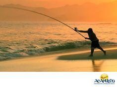 #informacionsobreacapulco La pesca es una gran actividad en Acapulco. NOTICIAS DE ACAPULCO. En Acapulco se sigue practicando la pesca, ya sea de una manera deportiva como la del marlín, comercial o de entretenimiento y se realiza en diferentes puntos, ya sea en las lagunas, a la orilla de la playa o adentrándose al mar en un bote. Te invitamos a conocer más sobre el maravilloso Acapulco, durante tu siguiente visita. www.fidetur.guerrero.gob.mx