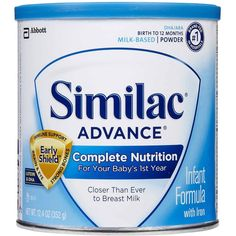 Similac Advance Powder 12.4 oz 6 pk (165 MAD) ❤ liked on Polyvore featuring baby