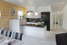 Log house kitchen