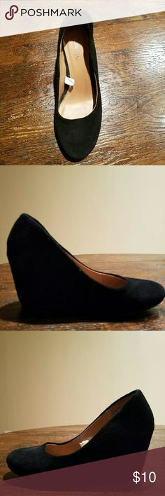 Black wedges never worn Comfy basic black wedges Merona Shoes Wedges