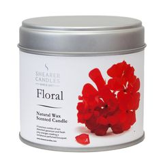 Natural Wax Candle – Floral