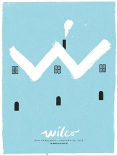 Wilco San Francisco 2012 Poster