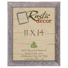 Found it at Wayfair - Barn Wood Reclaimed Wood Standard Wall Picture Frame
