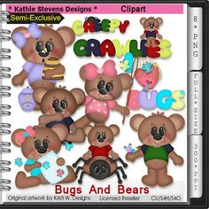 Bugs And Bears SE Clipart - CU