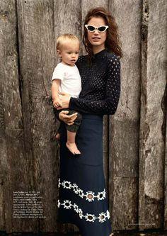 Maternal Coastal Captures - Harper's Bazaar Australia 'Shore Thing' Stars Rianne ten Haken