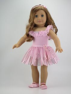 American Girl doll clothes 3 piece Ballet outfit / by DolliciousClothes Made with doll house design pattern available on pixie faire